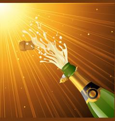 Splashing champagne vector