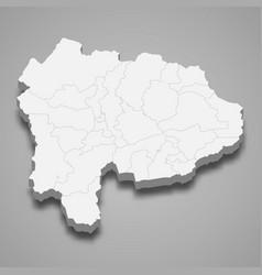 3d map prefecture japan vector