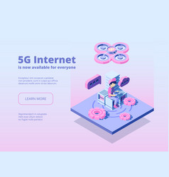 5g innovation online wireless technology global vector image
