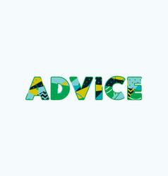 Advice concept word art vector