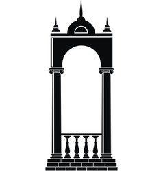 Arch with balustrade vector