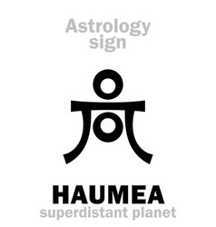 Astrology planet haumea vector