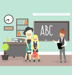 back to school concept in flat vector image