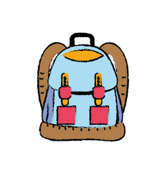 Backpack object with pockets and closures design vector