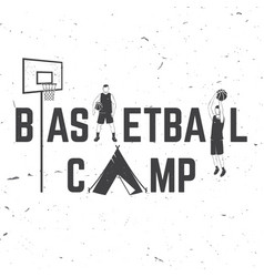 basketball camp badge vector image