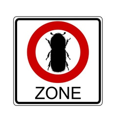 beetle traffic sign vector image