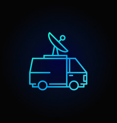 Broadcasting van colorful icon vector