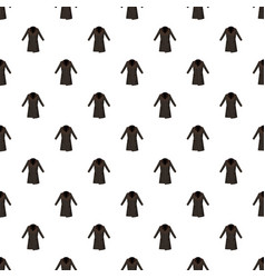 Brown winter coat pattern vector