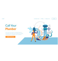Call your plumber plumbing services in internet vector