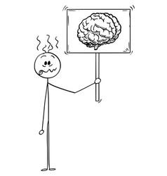 Cartoon crazy or stupid man or businessman vector