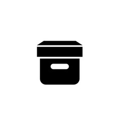 Closed box flat icon vector