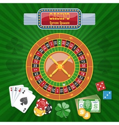 Colorful Casino Poster vector image
