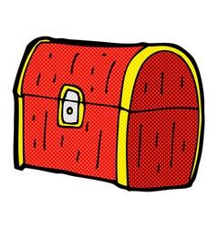Comic cartoon treasure chest vector