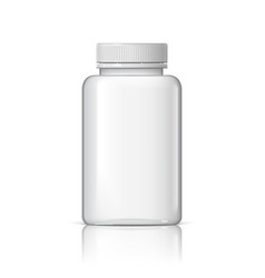 cool realistic white plastic bottle vector image vector image