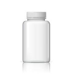 Cool realistic white plastic bottle vector