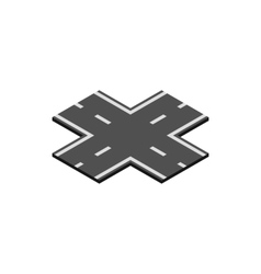 Crossroad icon isometric 3d style vector image