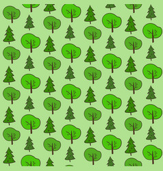 cute hand drawn forest pattern vector image