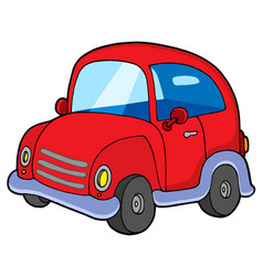 cute red car vector image