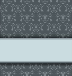 damask retro background vector image