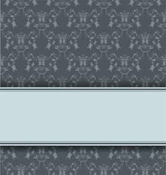 damask retro background vector image