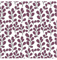 decorative seamless background with branches vector image