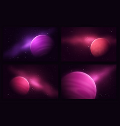 deep space sci-fi abstract set of vector image