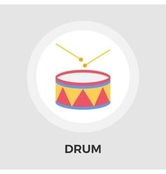Drum flat icon vector