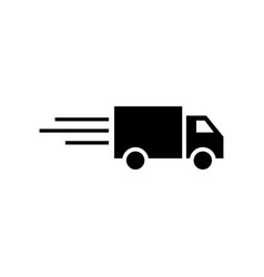 fast delivery truck icon graphic design template vector image