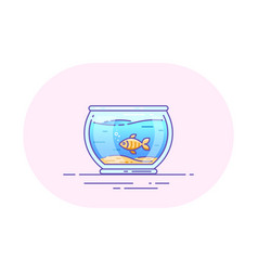 fishbowl icon design vector image