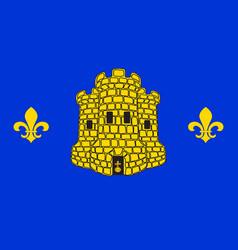 Flag of lens in pas-de-calais of hauts-de-france vector