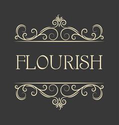flourish swirls vintage vector image