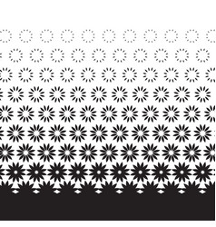 Geometric degrade motif in white and black vector
