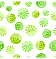 Green mint striped candy seamless pattern vector