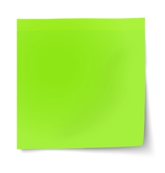 Green sticky note isolated on white background vector image