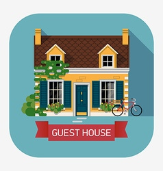 guesthouse accommodation vector image