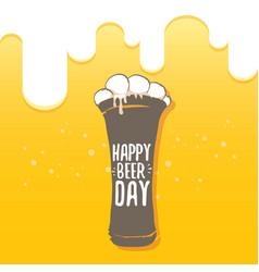 happy beer day graphic poster vector image