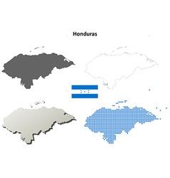 Honduras outline map set vector