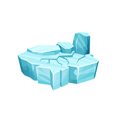 Ice island for game user interface element for vector