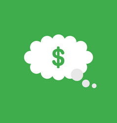 icon concept of dollar symbol inside thought vector image