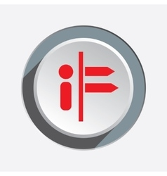 Info direction icon Information symbol Red sign vector