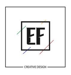 initial letter ef logo template design vector image