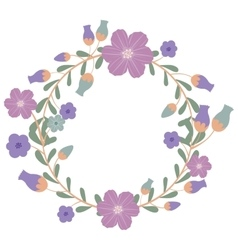 Isolated flower wreath design vector