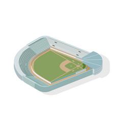 Isometric baseball park ballpark diamond modern vector