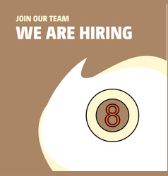Join our team busienss company snooker ball we vector