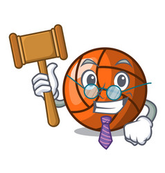 judge volleyball mascot cartoon style vector image