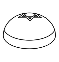 kipa hat icon outline style vector image