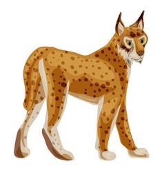 leopard icon cartoon style vector image