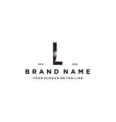Letter l palm logo design concept vector