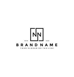 Letter nn logo design vector