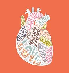 Lettering in heart vector